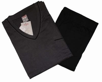 """Heren pyjama  """" Adamo """"   Gestreept    Grijs / zwart"""