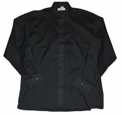 """Grote maten heren blouse met lange mouwen """" Arrivee """"  Zwart"""