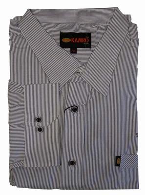 """Grote maten blouse met lange mouwen  """" Kamro """"  Gestreept"""