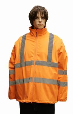 """Grote maten winddichte veiligheidsjas  """" Neon oranje """""""