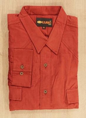 "Corduroy blouse met lange mouwen "" Kamro "" rood"