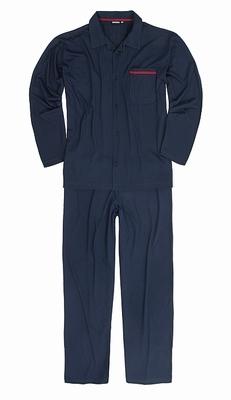 """Grote maten heren doorknoop pyjama  """" Adamo """" donker blauw"""