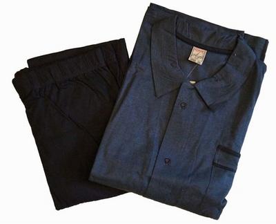 """Doorknoop pyjama voor heren """" Adamo """"   Donker blauw"""