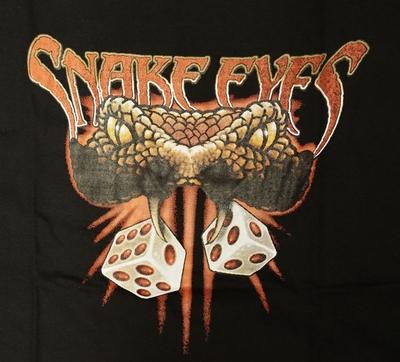 "T-shirt "" Snake eye "" Zwart"