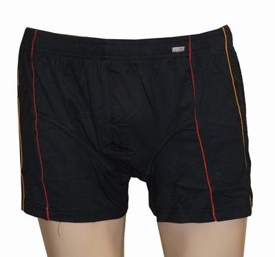 """Boxershort  """" Adamo """"  Zwart met oranje / rood biesje"""