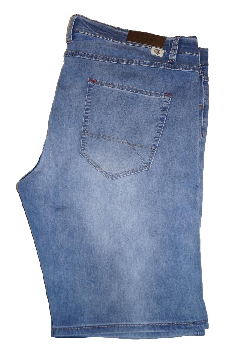 "Bermuda stretch   "" Maxfort ""   Denim /  Licht blauw used"