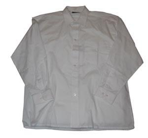 """Grote maten heren blouse met lange mouwen """" Arrivee """"  Wit"""