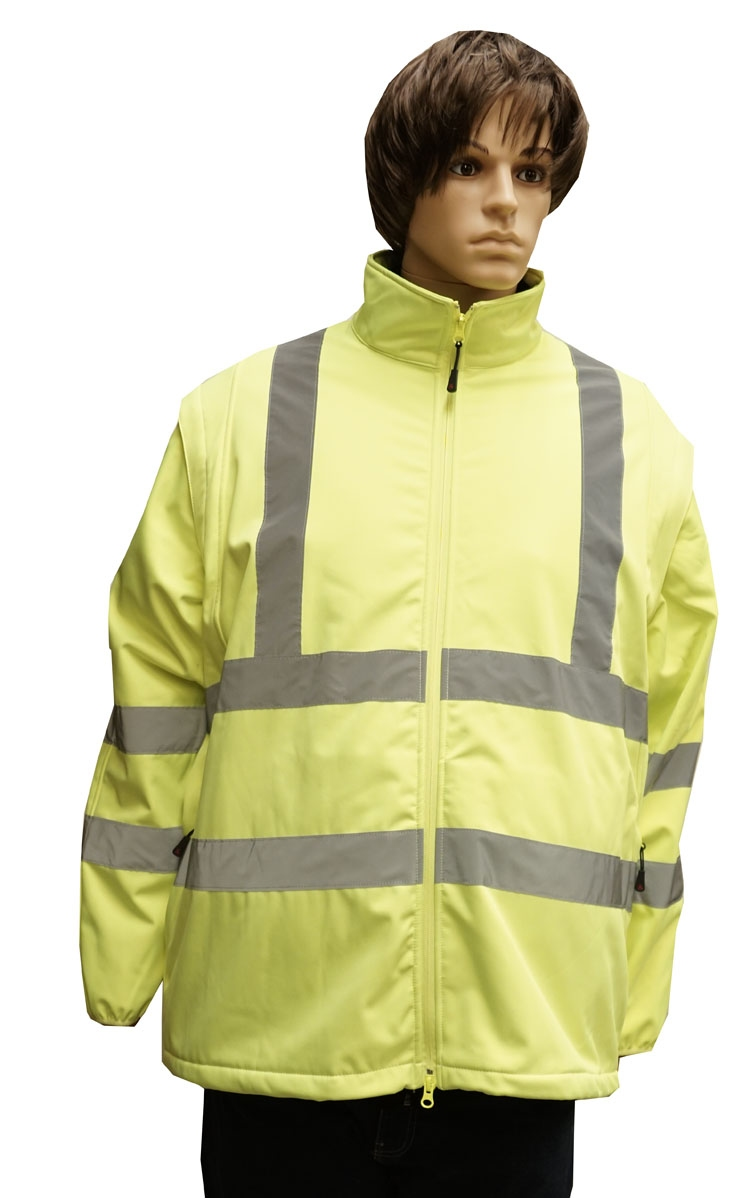 """Grote maten winddichte veiligheidsjas  """" Neon geel """""""