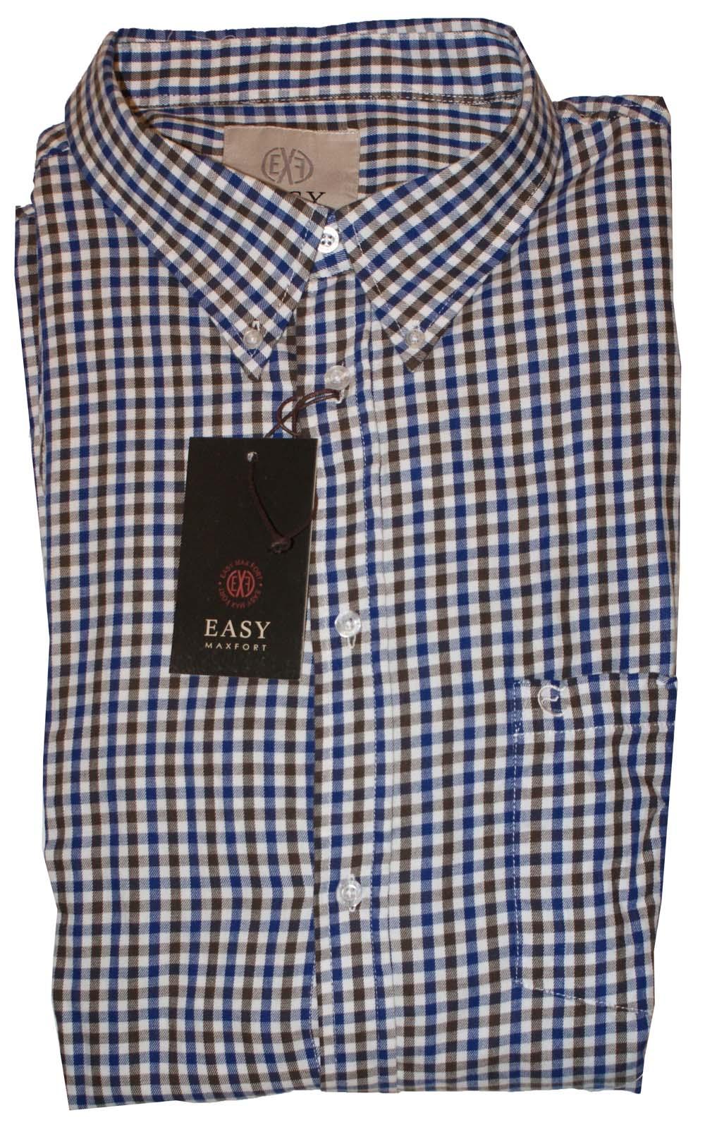 """Heren blouse met lange mouwen  """" Maxfort """"  Geruit"""