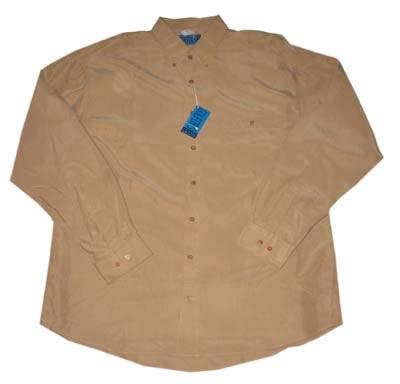 """Heren blouse met lange mouwen """" Golfers """"  Beige"""