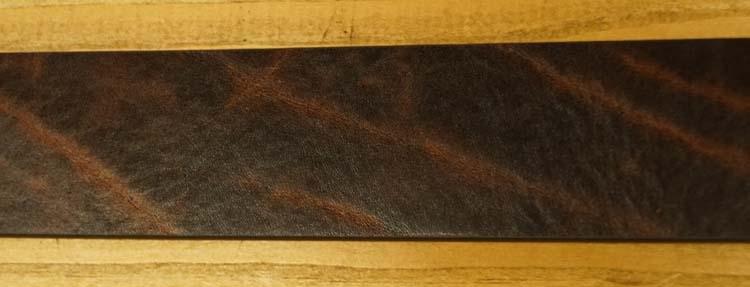 """Leren jeans riem  """"  Bruin gevlamd  377  """" 4 cm breed"""