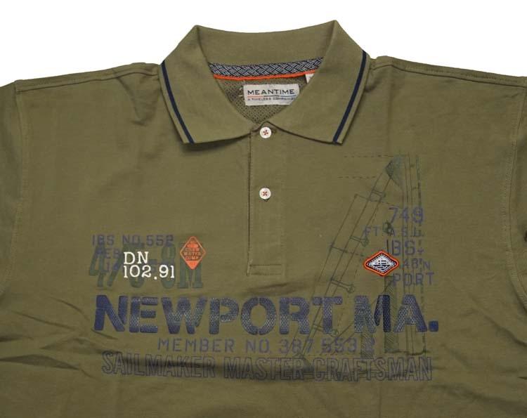 """Polo met korte mouwen  """" Newport Ma """"  Leger groen"""
