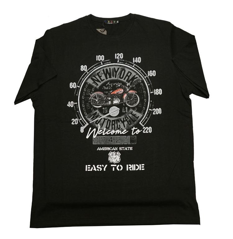 """Shirt met korte mouwen """"  New York motorcycle """"  Zwart"""