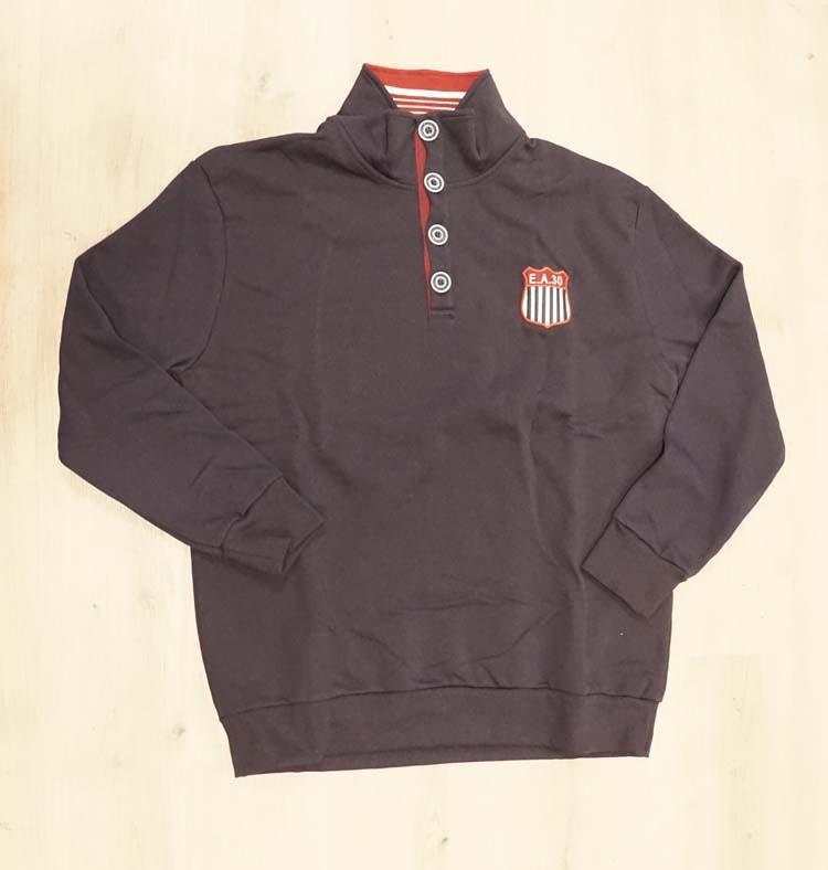 "Sweater met lange mouwen  "" Maxfort "" AE 30  Donker blauw"