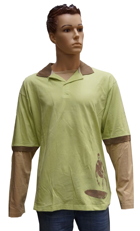 "Sweater met lange mouwen "" GCM ""  Licht groen / wit"