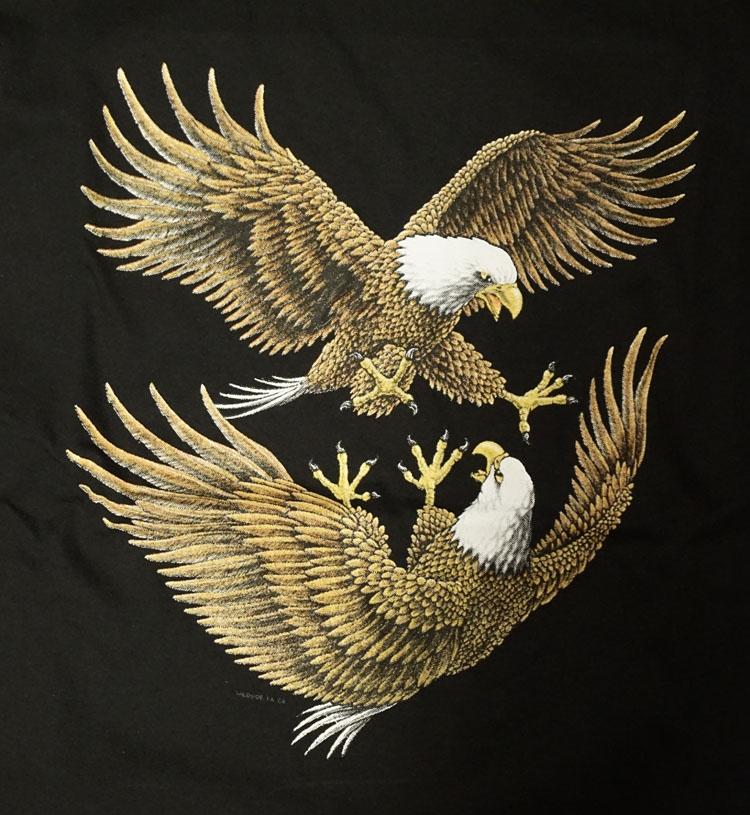"""T-shirt """" Vechtende adelaars """" Zwart"""