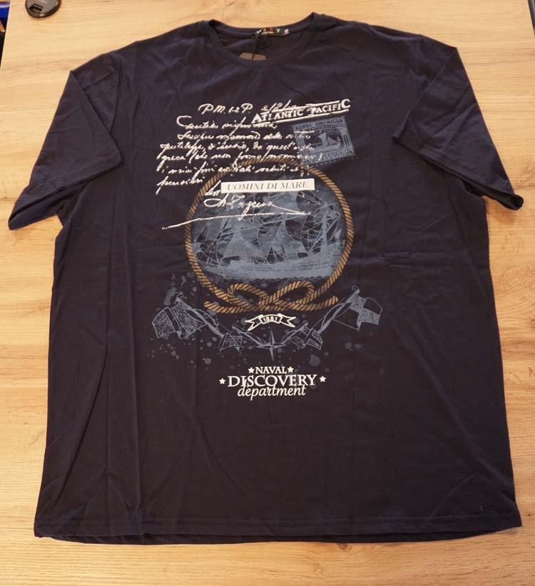 """T-shirt met korte mouwen  """" Uomini dimare """" donker blauw"""