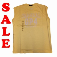 "Mouwloze T-shirt  "" GCM ""  Original GP4   Geel"