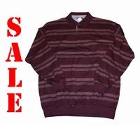 """Sweater met lange mouwen """" GCM """" Gestreept   Rood"""