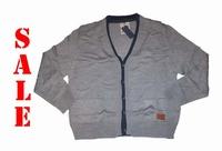 """Vest met knopen  """" Licht grijs / donker blauw """""""