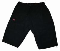 """Korte broek met elastische band  """" Kamro """"  Zwart"""
