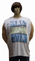 """Mouwloos shirt  """" Maxfort """"  Beach sure sun   Wit"""