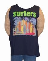 """Singlet T-shirt  """" Maxfort """"  Surfers   Donker blauw"""