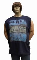 "Mouwloze T-shirt  "" Maxfort ""  Beach sure sun   Donker blauw"