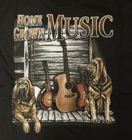 """T-shirt """" Home growen music """" Zwart"""