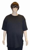 """Kamro T-shirt met korte mouwen  """" Extra lang """"  Zwart"""
