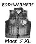 Bodywarmers maat 5XL