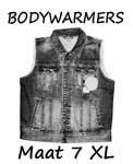 Bodywarmers maat 7XL