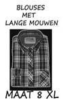 Heren blouse Maat 8XL