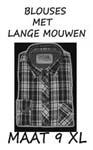 Heren blouse Maat 9XL