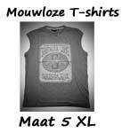Mouwloze T-shirts maat 5XL