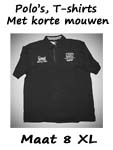 Polo's, T-shirts maat 8XL